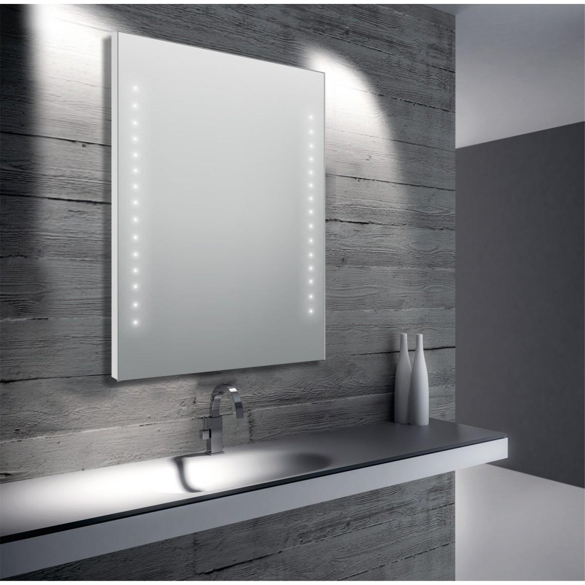 Specchio da bagno led 60x80 o 80x60 giada 68 mondialshop for Specchio da terra ikea
