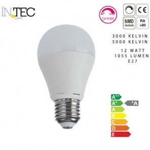 Lampadina Led Dimmerabile 12 watt 3000 5000 kelvin E27