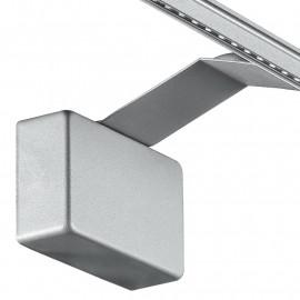 Led-W-Alcor/5W Sil - Applique Moderna Dal Colore Silver Con Luce Led 5 Watt 3500 Kelvin