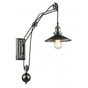 I-ARKITA-AP - Applique Carrucole Rustica Metallo Vetro Specchio Lampada da Parete E27