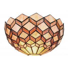 I-LIBERTY-AP - Applique Lunetta Vetro Colorato Decoro Geometrico Lampada Classica E27