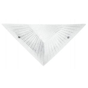 I-ISIDE/AP - Applique triangolare bianca con decoro a raggi 60 watt E27