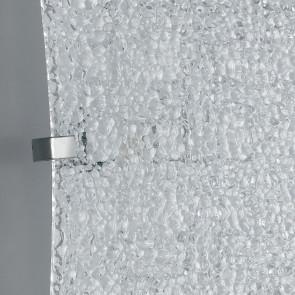I-PAMELA/AP - Applique rettangolare bianca con decorazione intrecciata con luci led 16 watt