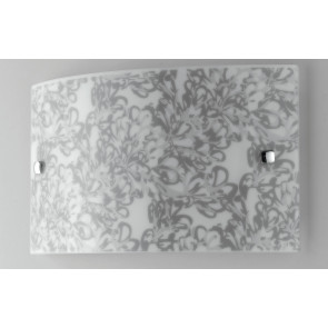 I-LOTUS/AP3520 - Applique rettangolare a led con decoro floreale 16 watt