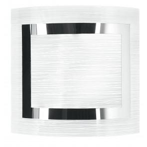 I-OAK/AP - Applique Quadrata Vetro decoro Cromato Quadrato Lampada da Parete Moderna E27