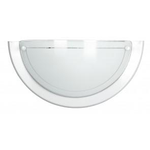 07/01000 - Applique dal design classico ma con cornice moderna bianca 60 watt E27