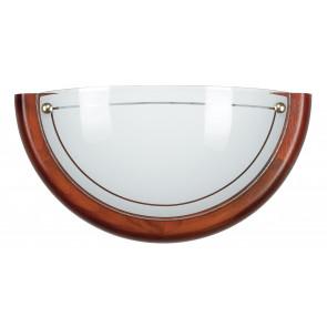 07/02012 - Applique dal design classico ma con cornice moderna in legno 60 watt E27