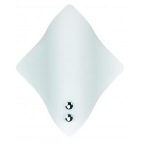 64/01712 - Applique elegante dalla forma a rombo e di colore bianco 60 watt E27