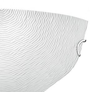 Applique con Diffusore in Vetro Bianco Decoro a Filigrana FanEurope
