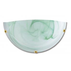 32/07112 - Applique dalla forma semplice a lunetta e dal colore sfumato verde 60 watt E27
