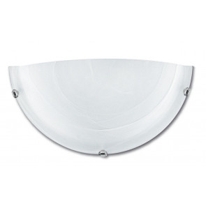 32/28401 - Applique dalla forma semplice a lunetta e dal colore sfumato bianco 60 watt E27