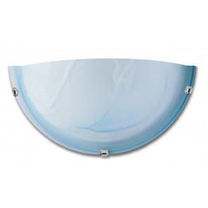 32/29201 - Applique dalla forma semplice a lunetta e dal colore sfumato azzurro 60 watt E27