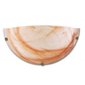 32/29601 - Applique dalla forma semplice a lunetta e dal colore sfumato tabacco 60 watt E27
