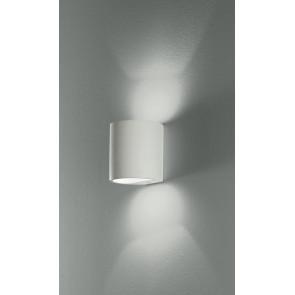 I-SHINE-AP - Applique cilindrica bianca con doppia apertura per la luce 28 watt 2700 kelvin G9