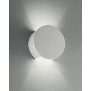 I-LEIRON-AP - Applique originale tonda di colore bianco 28 watt 2700 kelvin G9
