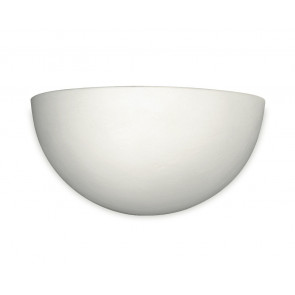164/00200 - Applique Lunetta Ceramica Lampada da Parete Verniciabile R7S