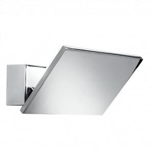 LED-W-OMICRON/6W - Applique con luce led cromata dalla forma squadrata 6 watt 3500 kelvin