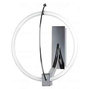 CERCHIO/AP - Applique a forma di cerchio cromata 55 watt 6000 kelvin T5