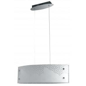 I-EXAGON/S65 - Lampadario a sospensione con decori floreali 30 watt