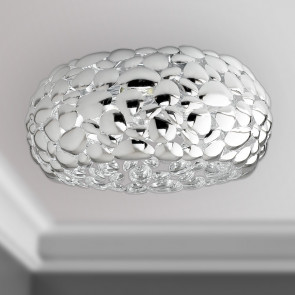 I-DIONISO-PL48-CR - Pafoniera Metallo Cromata Lampada Moderna E27