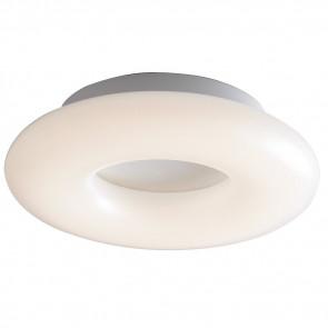 LED-MYLION-PL30 - Plafoniera Metallo Bianco diffusore Anello Opale Interno Led 16 watt Luce Naturale