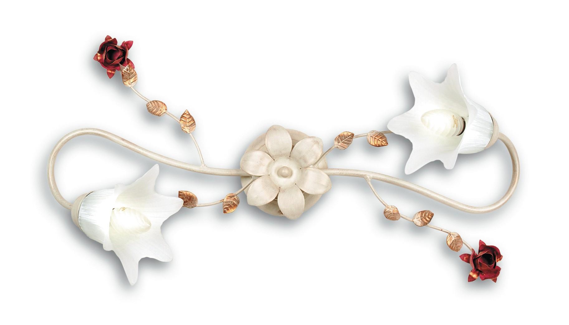 Lampadari Plafoniere Rosse : Rose pl2 8031414083459 fan europe lighting plafoniera floreale 2