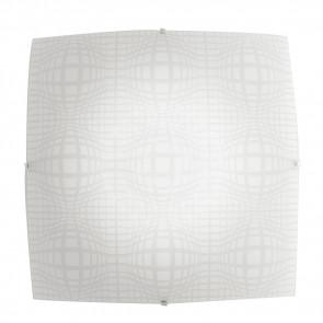 I-PROJECT/PL30 - Plafoniera Lampada Quadrata Vetro Disegno Astratto Moderna Led 18 watt Luce Naturale
