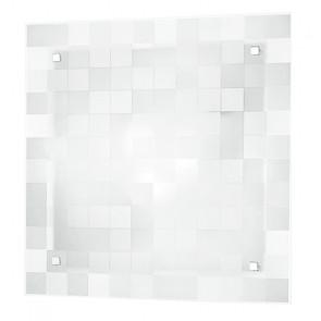 I-CHANEL/PL40 - Plafoniera con decorazione a quadri bianca 60 watt E27