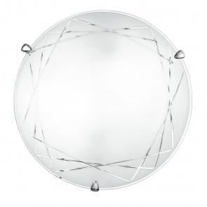 I-PARADISE/PL40 - Plafoniera bianca dal design classico e elegante 60 watt E27