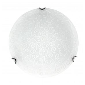 RICAMO/40 ANT BCO - Plafoniera con decori eleganti e raffinati di colore bianco 60 watt E27