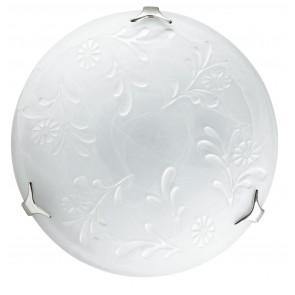206/02700 - Plafoniera dalla forma tonda bianca con motivi floreali 60 watt E27
