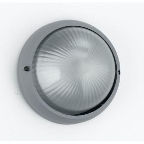I-3072L/SILVER - Plafoniera Esterna Alluminio Silver Tonda diffusore Vetro E27