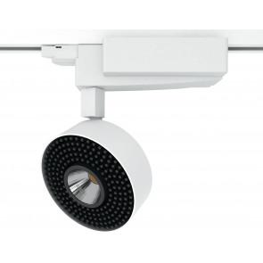 LED-ARROW-40W - Faretto per binario bianco e luce led 40 watt 3000 kelvin