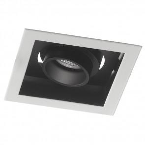 INC-APOLLO-1X10M - Faretto Incasso Orientabile Quadrato Bianco Nero Satinato Led 10 watt Luce Naturale