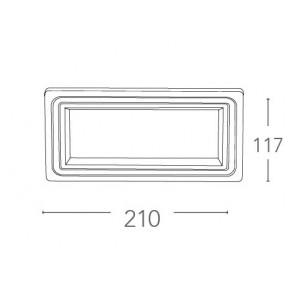 Faretto a Incasso Flap in Alluminio Pressofuso Bianco Opaco con Decoro FanEurope