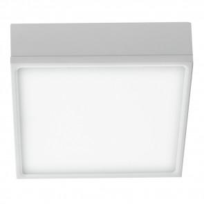 LED-KLIO-Q17 - Plafoniera Alluminio Bianco Goffrato Quadrato Incasso Cartongesso Led 22 watt Luce Naturale
