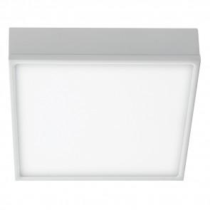 LED-KLIO-Q21 - Plafoniera Quadrata Alluminio Bianco Soffitto Ribassato Led 36 watt Luce Naturale
