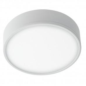 LED-KLIO-R21 - Plafoniera Bianco Goffrato Alluminio Tondo Cartongesso Led 36 watt Luce Naturale