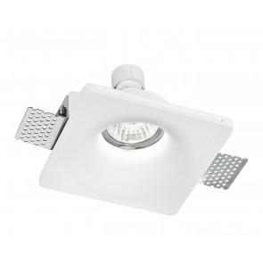 INC-SENSO-1 - Faretto a incasso bianco quadrato con rientranza rotonda GU10