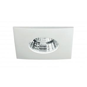 INC-NADIR-Q6F - Faretto Bianco Alluminio Quadrato Incasso Controsoffitto Led 6 watt Luce Fredda
