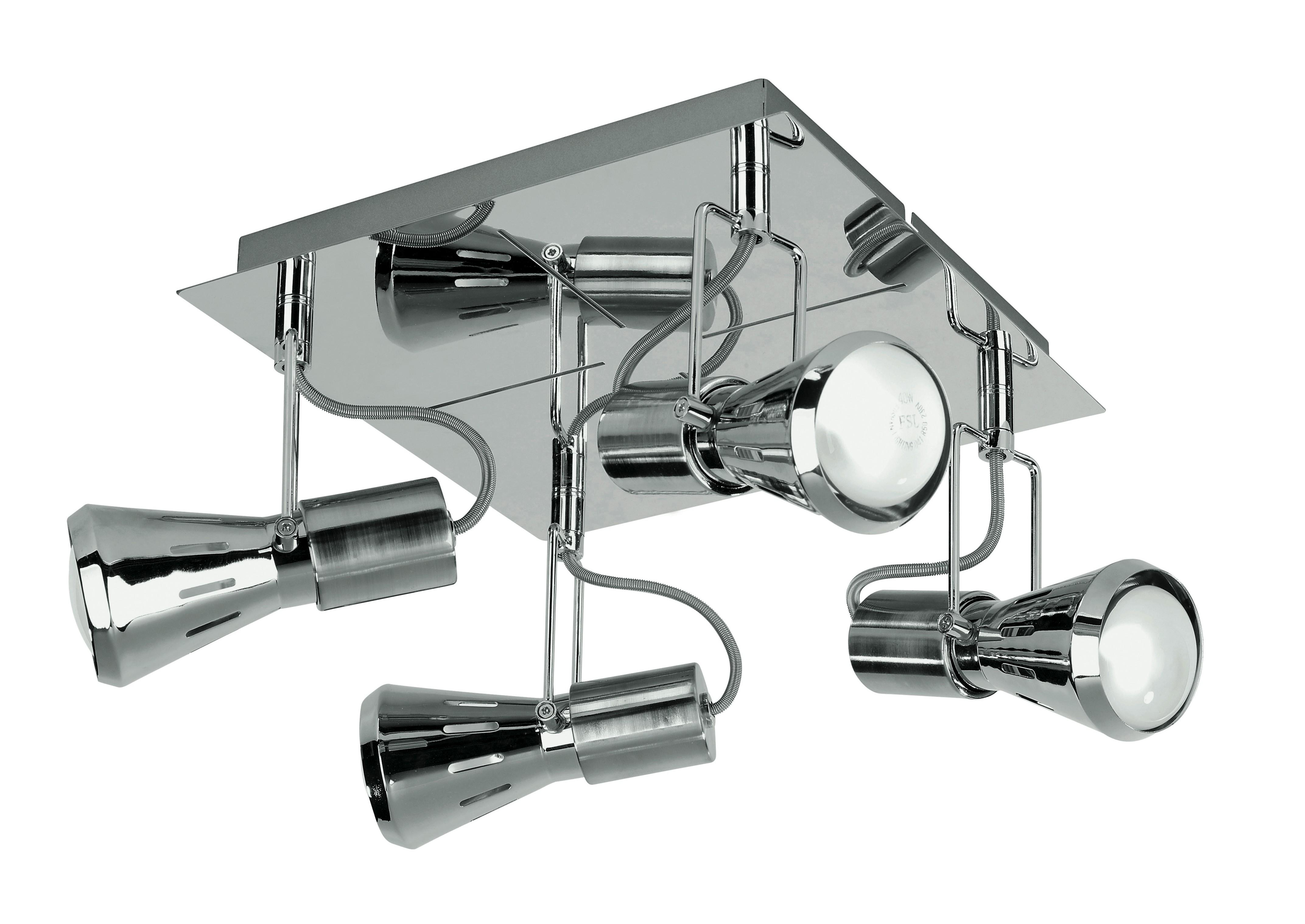Plafoniere Con Spot : Spot cadillac pl plafoniera squadrata a quattro luci dal colore