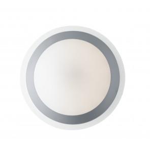 I-RAIN-PL33 - Plafoniera diffusore Pc Anello Silver Lampada da bagno Led 12 watt Luce Naturale