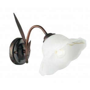 I-BYRON/AP RUG - Applique con decorazioni a spiga ruggine 60 watt E27