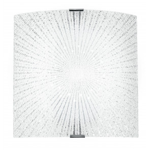 I-CHANTAL/AP - Applique quadrata con decoro a raggi con luci led 12 watt