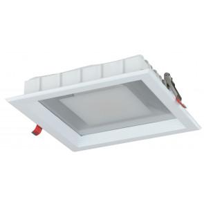 INC-MARK-30C - Faretto a incasso dalla forma semplice quadrata con luci led 30 watt 3200 kelvin