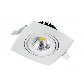 INC-KLIPPE-8C - Faretto a Incasso Quadrato Orientabile Alluminio Bianco Cartongesso Led 8 watt Luce Calda