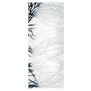 I-VKAPPA/M HYPNOSE - Vetro di Ricambio Rettangolare per Plafoniera Kappa decoro Cromato 56x25,8 cm