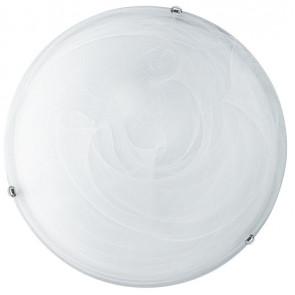I-LUNA/PL30 - Plafoniera Tonda Vetro Sfumato Bianco Led Interno Classico 12 watt Luce Naturale