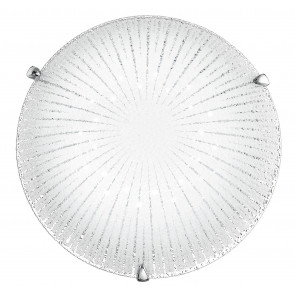 I-CHANTAL/PL30 - Plafoniera a led di colore bianco con decoro originale 14 watt
