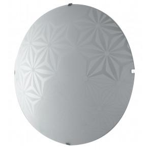 I-EXAGON/PL30 - Plafoniera Moderna Tonda Vetro Bianco Disegno Fiori Lampada Led 18 watt Luce Naturale
